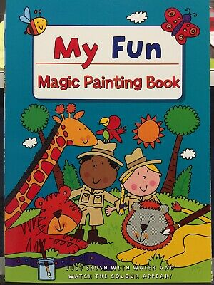 New - Magic Painting Book - Design 1 - 16 Pictures To Paint With Water