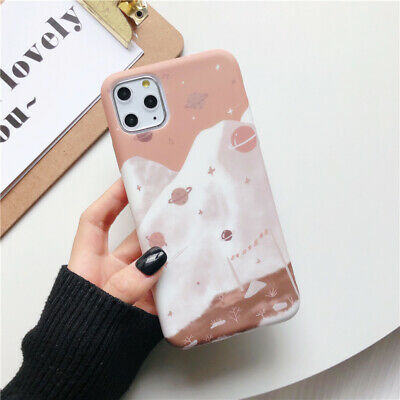 For iPhone 11 Pro Max XS XR 8 7 Plus 6S Liquid Silicone Soft IMD TPU Case Cover