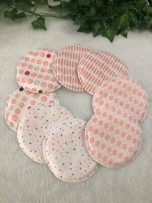 WASHABLE REUSABLE CLOTH NURSING PADS / BREAST FEEDING 8 pack (4 pairs) Bamboo