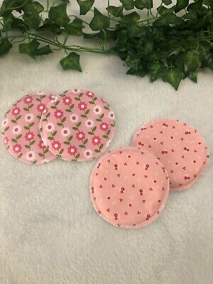 WASHABLE REUSABLE CLOTH NURSING PADS / BREAST FEEDING 4 pack (2 pairs) Bamboo