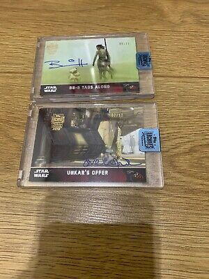 Topps star wars archives signature series 2018 BB8 X2- 06/11 & 02/12