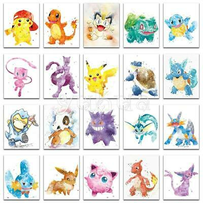 """5D DIY Diamond Embroidery Painting  Full Square/Round Drill """"Pokemon set A"""""""