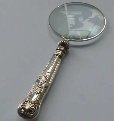 Yates Bros HM Silver Handle Magnifying Glass Sheffield 1931 George V