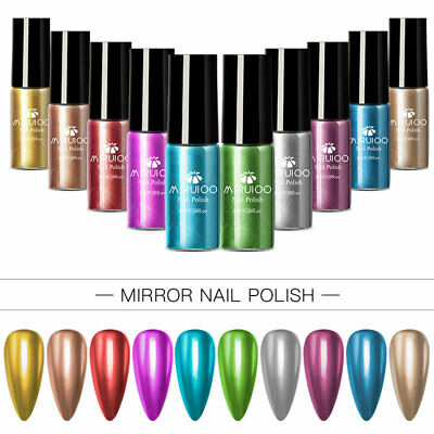 MSRUIOO Mirror Nail Polish Rose Gold Transparent Color 8ml Long-Lasting Fast Dry