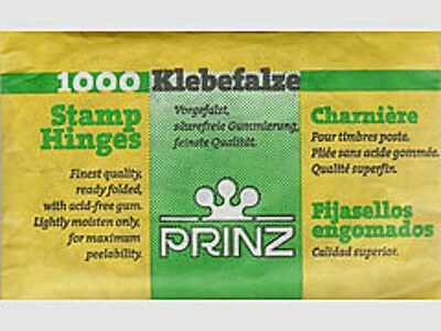 Prinz Prefolded Stamp Hinges - 1  Pack of 1000 each