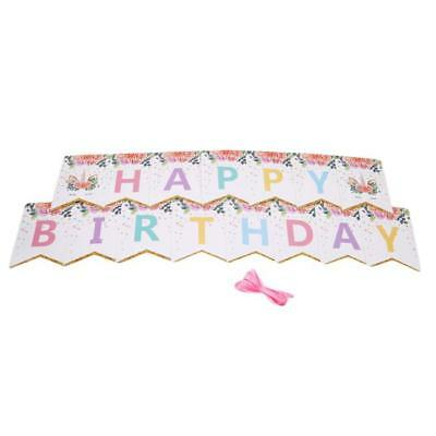 Unicorn Bunting Kit With 10 Rigid Card Flags Girls Bedroom Birthday Party 5m