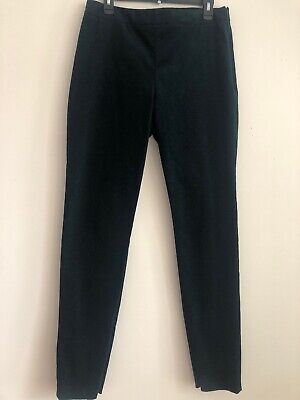 New Theory Women's HW Legging Green Poplar Oslo Corduroy Pants Size 12 MSRP $255