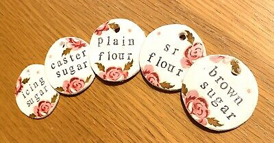 Emma Bridgewater Themed Handmade Clay Tags - Scattered Rose -Baking Set Of Words
