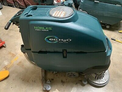 "Used Nobles Speed Scrub SS5 28"" Disk Floor Scrubber New Batteries!"