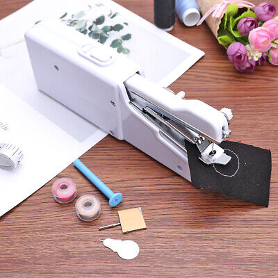Multifunction Mini Handheld Electric Sewing Machine Set w/Coil Needle Threader