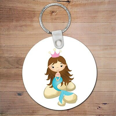 mermaid Personalised Bag Tag Back To School Kids girl Backpack Key Chain luggage