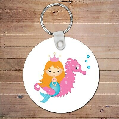 mermaid 2 Personalised BagTag Back To School Kids girl Backpack KeyChain luggage