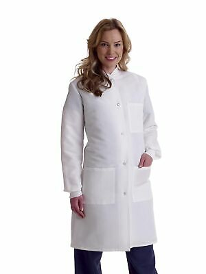Medline Ladies' ResiStat Lab Coat, White (Size S - 2XL)