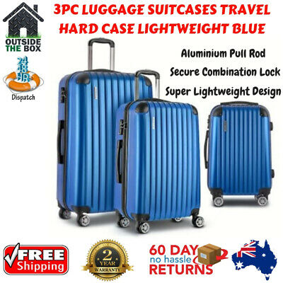 3pc Luggage Lightweight Hard Case Wanderlite Sets Travel Carry Trolley Suitcase