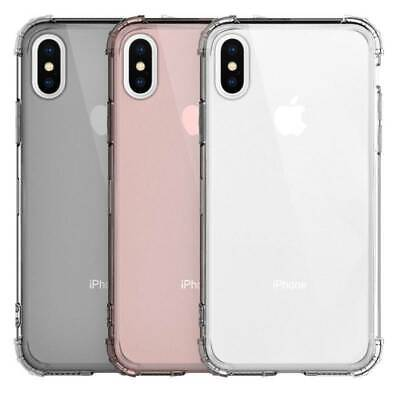 For iPhone 11 Pro XS Max XR X 8 7 6 5 Shockproof Transparent Silicone Case Cover