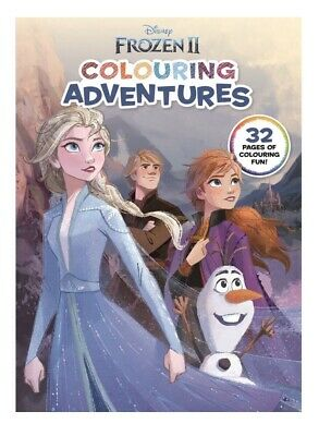 NEW Frozen 2 Colouring Adventures Book. DISNEY. 32 Pages of Colouring Fun!