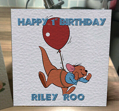 Roo from Winnie the Pooh Personalised Birthday Card!
