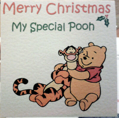 Winnie The Pooh and Tigger Too Christmas Card - Personalised or Non Personalised