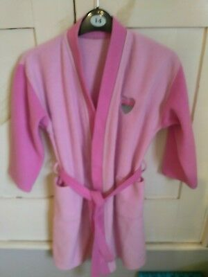 GIRLS PINK BHS DRESSING GOWN AGE 7-8 YEARS in Good Condition No Marks