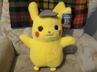 OFFICIAL POKEMON 41cm LIFE SIZE Detective PIKACHU soft toy plush collectable UK