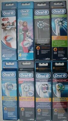 Braun Oral B Toothbrush Heads Genuine Original Replacements 3D Precision Clean
