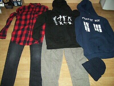 Boys winter bundle clothing.Age 12-13 years.Jeans,hoodies, joggers, shirt.