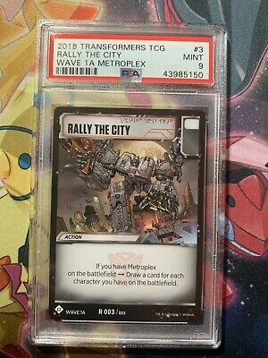 Transformers TCG 1X RALLY THE CITY Rare R 003//003 Wave 1A METROPLEX DECK 2018