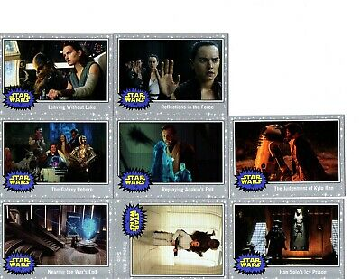 Topps Star Wars Journey to The Rise of Skywalker silver parallel lot of 8