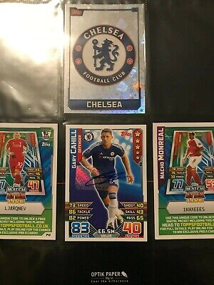 Match attax Gary Cahill Signed on authentic Topps Sticker hologram 15/16 season