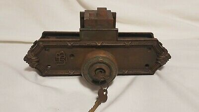 Union Banking Building Bronze Door Knob / Lever Set Ornate pat Jun 6 1899-1905
