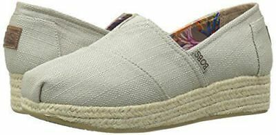 New Bobs Skechers Women's Wedge Slip-On Taupe Memory Foam High Jinx Pick Size