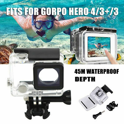 For GoPro Hero 4/3+/3 GoPro 45M Waterproof Housing Clear Diving Protective Case