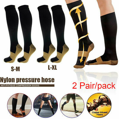 Socks 2 pairs Miracle Copper Compression Socks For Adult Unisex