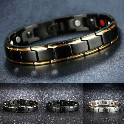 Therapeutic Energy Healing Bracelet Magnetic Therapy Bracelet Stainless Steel