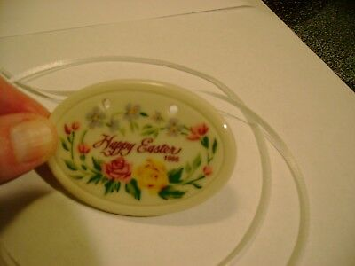 1995 Longaberger Happy Easter Porcelain Tie-On New In Box