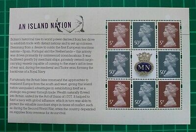2013 MERCHANT NAVY M13L MPIL 5p 50p MACHIN PSB BOOKLET PANE Unmounted Mint