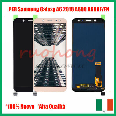 Display Lcd + Touch Per Samsung Galaxy A6 2018 Sm-A600Fn Sm-A600Ds Nero