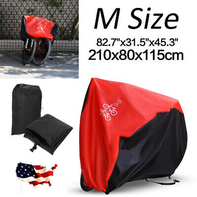 210CM Bicycle Cover Waterproof Bike Cycle Outdoor Sun Dust Rain Protector Size M