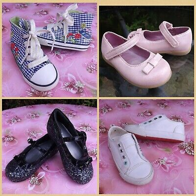 Bundle Of Next & Mothercare Girls Shoes Size Uk 5 Infant