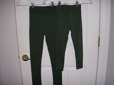 Nwt~Lularoe Kids Unisex Solid Green Leggings S/M Or L/Xl Hard To Find!!!