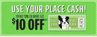$40 PLACE CASH - The Children's Place Certificates/Coupons - Valid NOW 12/26-1/8