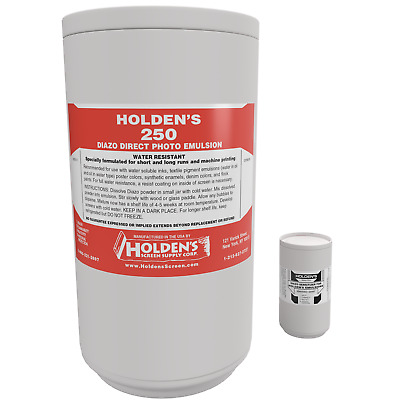 Holden's 250 Diazo Photo Emulsion for water based printing