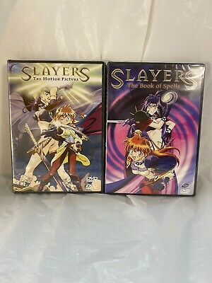 Slayers The Motion Picture • Slayers The Book Of Spells DVD Lot New Sealed Rare