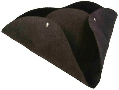Cavalier Tricorn Hat Pirate Colonial Halloween Adult Costume Accessory 2 COLORS