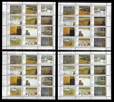 Canada — Set of 4 Panes of 12 — Canada Day: Scenes By J. P. Lemieux #1027a — MNH
