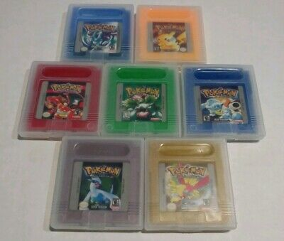 Pokemon Crystal Silver Gold Red Yellow Blue Green Gameboy Color GBC USA SELLER