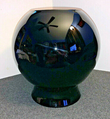 Pilgrim Glass Black Globe Vase Planter Amethyst Large Hand Blown Art Glass - NEW