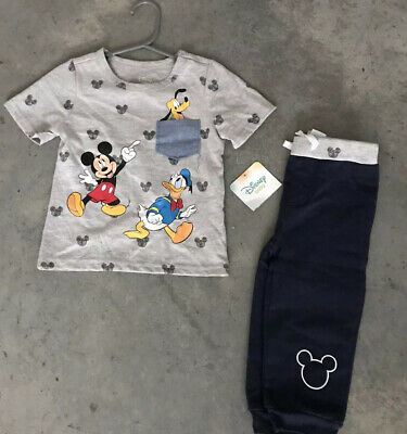 Disney Baby BB Mickey Girls Boys Donald Duck Pant Set Outfit 18M / 18 M