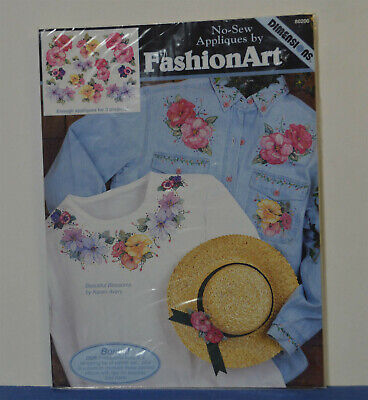 FASHION ART Dimensions NO-SEW APPLIQUES Beautiful Blossoms Iron On New 80200