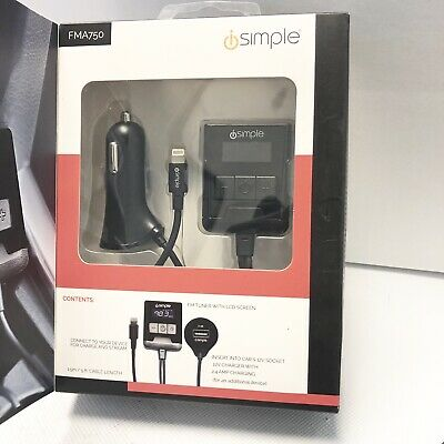 iSimple - FM Transmitter for Select Apple Devices - Black